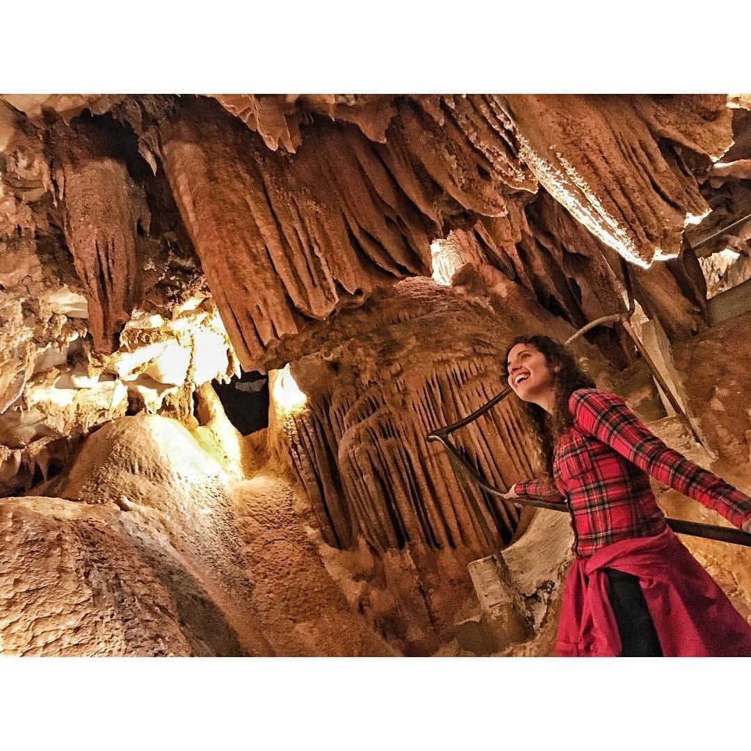 Plaid Girl Cave Scene